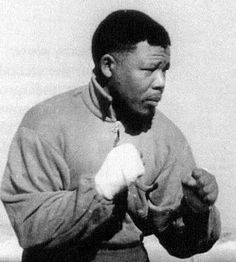 Nelson Mandela, being a serious amateur boxer (heavyweight), trained alongside professional boxers in Johannesburg.  This was while he and Oliver Tambo were operating South Africa's first black owned law firm.  In his autobiography he speaks fondly of his time at the boxing gym at the Donaldson Orlando Community Centre (DOCC), which he joined in 1950.