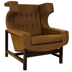 Sergio Rodrigues; 'Voltaire' Armchair, 1965.