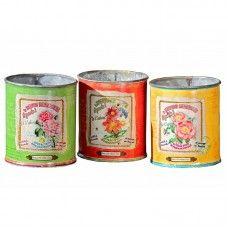 Ghivece tablă Kati set 3 buc H10 cm Candle Holders, Candles, Porta Velas, Chandelier, Pillar Candles, Lights, Candlesticks, Candle