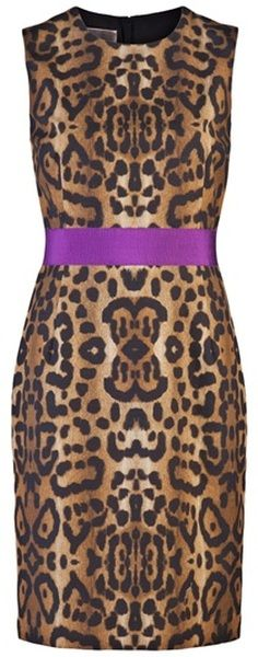 65c8035f8ee2 Giambatissta Valli Leopard Shift Dress...I would buy this if I could find