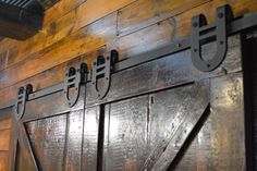 Gliding barn wood hardware. #BarnwoodRustics #BarnwoodDoor #ReclaimedWood Barnwood Doors, Barn Wood, Hardware, Rustic, Stuff To Buy, Furniture, Style, Country Primitive, Swag