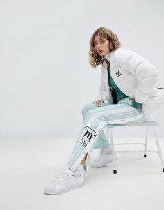 Adidas adidas Originals adicolor Popper Pants In Mint #adidas #adidasoriginals #fashion #sportswear
