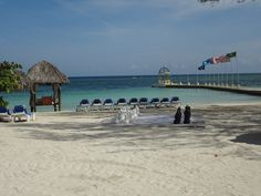 The beach at Sandals Resort,  Montego Bay