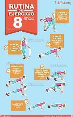 8.- Rutina de ejercicio para hacer en casa
