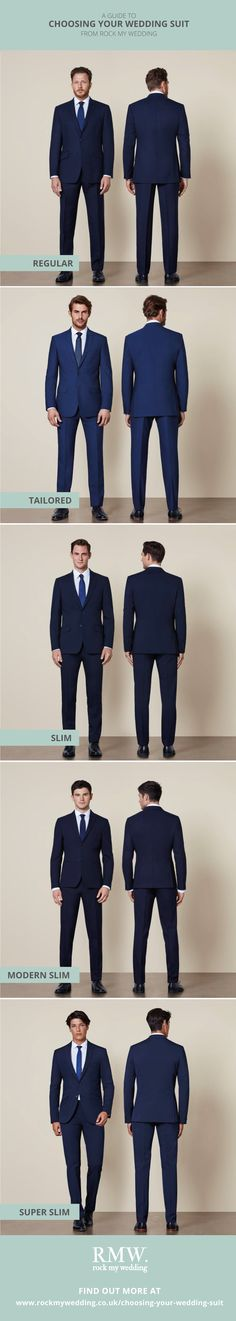A Guide to Choosing Your Wedding Suit | Regular Fit | Tailored Fit | Slim Fit | Ultra Slim Fit