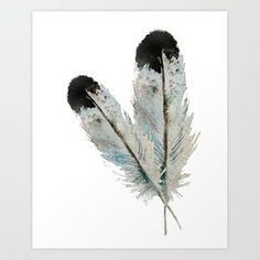 Fall feather -watercolor Art Print by craftberrybush - X-Small Watercolor Art, Feather, Art Prints, Fall, Living Room, Art Impressions, Autumn, Quill, Watercolor Painting