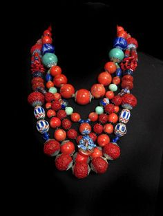 Red cinnabar, red coral & cobalt  Gretchen Shields resides in California. She was born in Japan, she spent her childhood in China. ,,, reflects the art of Asia.