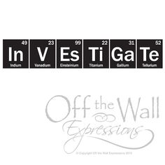 Cool download where you type what you want and it write it using the science wall decal investigate periodic table sticker classroom decor teacher decal science sticker urtaz Image collections