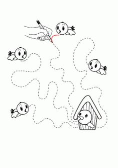 printables for kids Preschool Lesson Plans, Preschool Learning Activities, Preschool Crafts, Toddler Activities, Free Kindergarten Worksheets, Tracing Worksheets, Worksheets For Kids, Feeding Birds In Winter, Prewriting Skills