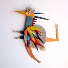 MARTA MADUREIRA strange creatures, Portuguese illustrator, mixed media
