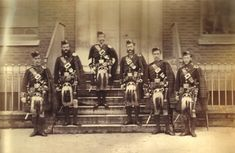 19th Century Sottish military - Kings Own Scottish Borderers. During the First World War, the Germans used to call the kilted Scottish soldiers like these that they fought against as the 'Ladies from Hell' because of the ferocious way they took them on. Hard men one and all