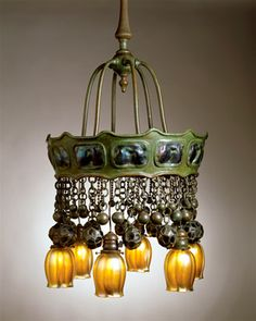 Tiffany Turtleback Electrolier. Circa 1905 Photo: The Neustadt Collection of Tiffany Glass, New York City