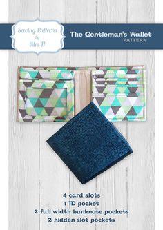 The Gentleman's Wallet PDF sewing pattern by SewingPatternsbyMrsH