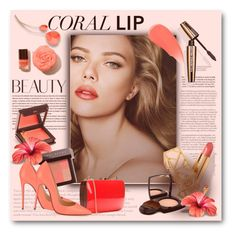 """Spring Beauty: Corals"" by bliznec ❤ liked on Polyvore featuring beauty, Jouer, Burberry, Bobbi Brown Cosmetics, Chanel, Rocio, Christian Louboutin and coolcorals"