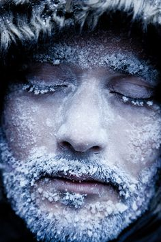 "...Snowflakes that fall on your nose and eyelashes..."" Svalbard is fun!"