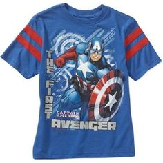 Buy Boys Marvel Avenger Captain America Shirt With Tags Sz Great Gift online Captain America Shirt, Marvel Captain America, Rainbow Loom Creations, Kid Character, Baby Kids Clothes, Boys Shirts, Marvel Avengers, Boy Fashion, Toddler Boys