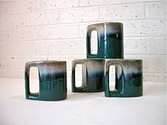 unusual glazed mugs