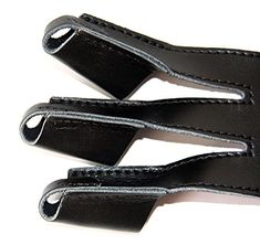 NEW 3 Finger Archery Protect Glove Leather Handmade Shooting Glove For Hunting Medium Black: Amazon.co.uk: Sports & Outdoors