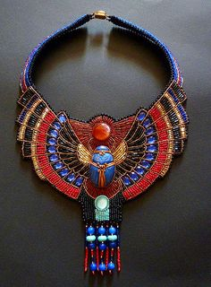 Collection of Amazing Egyptian style beaded necklaces