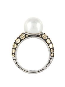 Dot Gold, Silver, & Pearl Pedestal Ring by John Hardy