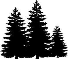 Visit the post for more. Pine Tree Silhouette, Forest Silhouette, Silhouette Design, Stencil Patterns, Tree Patterns, Stencil Designs, Kiefer Silhouette, Christmas Tree Template, Tree Stencil