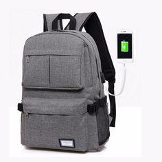 e90687b04ea3 2018 Men Backpacks Male Multifunction USB Charging Backpacks College Student  School Backpack Bags for Teenagers Laptop Backpacks
