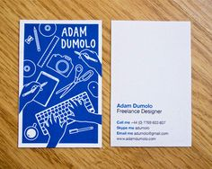 Cool & Creative Business Card || pinterest.com/edevantie