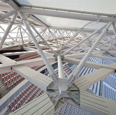 Image 1 of 52 from gallery of Willmote Allianz Rivera / Wilmotte & Associés Sa. Photograph by Miläne Servelle Steel Structure Buildings, Structure Metal, Building Structure, Steel Trusses, Roof Trusses, Facade Design, Roof Design, Wood Architecture, Architecture Details