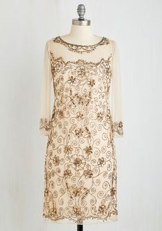 1920s Style Beaded Cocktail Dress - You Arioso Beautiful to Me Dress  $159.99