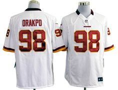87ec5a61f Nike Redskins  98 Brian Orakpo White Mens NFL Game Jersey And  Broncos  Demaryius Thomas