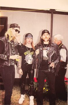 Duff, Axl & the great Lemmy!! Yes, we make Rock and Roll!!!