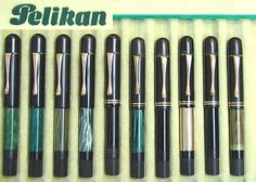 from the collection of Gerhard Brandl/photography by Gerhard Brandl. A tray of Pelikans from 1929 and 1931