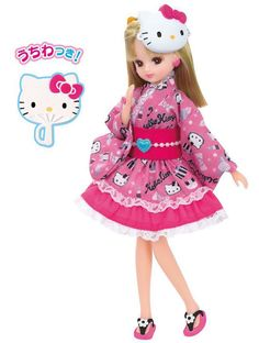 Takara Tomy Licca-chan I love Hello Kitty dress Japan #TakaraTomy #Dolls