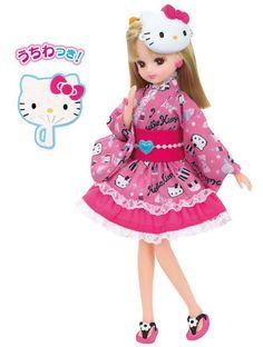 Takara Tomy Licca-chan I love Hello Kitty dress Japan #TakaraTomy #Dolls