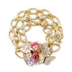 GOLD JUICY COUTURE blooming flower bracelet