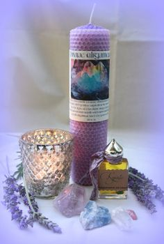 January 2013 Ritual Set for ALIGNMENT Candle by TheSageGoddess, $65.00