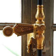 I am having so much fun with these Versailles posts! This one is on the textiles and the windows in Versailles. Garage Door Handles, Window Handles, Knobs And Handles, Antique French Doors, Antique Windows, Knobs And Knockers, Door Knobs, Door Latch, Versailles