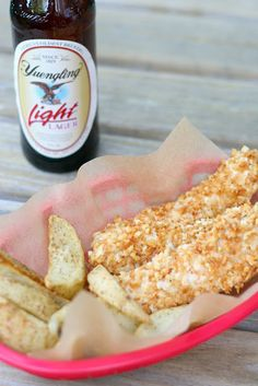 Baked Chicken Strips, fingers, toes...whatever you call them.  I've made similar ones before - these sound good!
