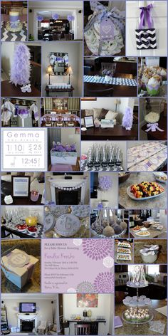 Chevron, Lavender & Grey Baby Shower .. maybe pink tho but the lavender is really pretty too!