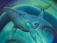Tohora / Whale by Reina Cottier. New Zealand artist.