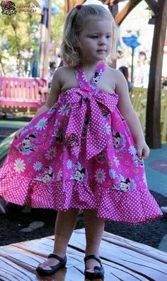 Girls Toddler Minnie Mouse Big Bow Ruffle Dress 2T-10 by SSBSimplySewBoutique on Etsy