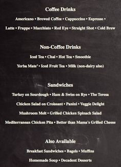jozoara coffee shop menu