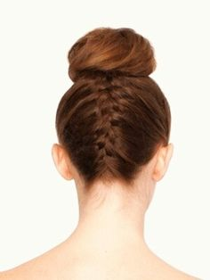 Greasy Hair Fix; Reverse French Braid and Bun