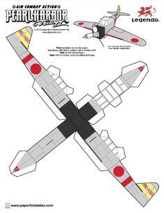 Blog Paper Toy papertoys Pearl Harbor Trilogy Zero Fighter template preview Papertoys Pearl Harbor Trilogy (x 2)