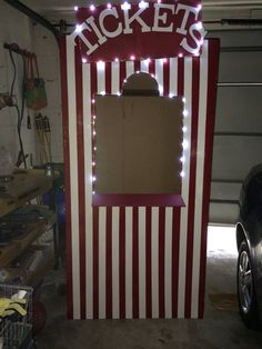 Ticket booth for our campsite. Carnival themed Relay.