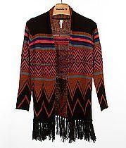 Fashion Maps Printed Cardigan Sweater