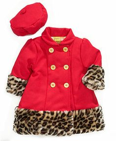Penelope Mack Baby Coat, Baby Girls Hat and Faux-Fur Jacket