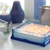 Glass Block Scented Candle 7.5x7.5x2.25