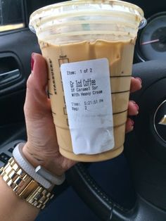 Healthy Starbucks Choice: Iced Coffee with heavy whipping cream and sugar free French Vanilla ...