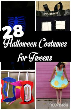 28 Halloween Costumes that are great for Tweens and even Teens!